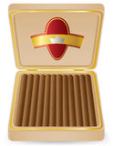 Cigars in a box vector illustration Stock Photography