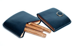 Cigars on the case Royalty Free Stock Photography