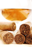 Cigars and Cognac Royalty Free Stock Photos