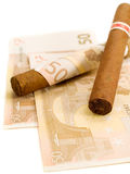 Cigars costing 50 euro Stock Image