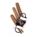Cigars and a cutter royalty free stock images