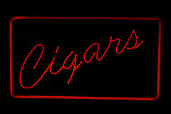Cigars neon sign Royalty Free Stock Photo