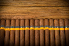 Free Cigars On Rustic Table Stock Photo - 44230400