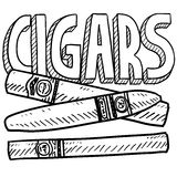 Cigars sketch Royalty Free Stock Photos