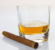 Cigars and whiskey Royalty Free Stock Image