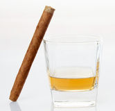 Cigars and whiskey Royalty Free Stock Photos