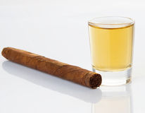 Cigars and whiskey Stock Photo