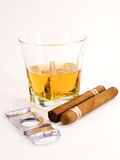 Cigars and whiskey Royalty Free Stock Photo