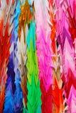 Cigni di origami immagini stock