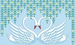 Cigni nell'amore illustrazione vettoriale
