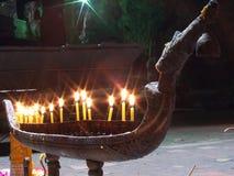 Cigno della candela Immagine Stock Libera da Diritti