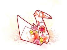 Cigno di Origami Fotografia Stock Libera da Diritti
