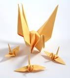 Cigno di origami Immagini Stock Libere da Diritti