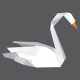 Cigno di Origami Immagine Stock