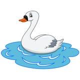 Cigno su colore di acqua Fotografia Stock