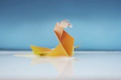 Cigno variopinto di origami Fotografia Stock