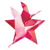 Cigoñal en un fondo de estrellas rojas Foto de archivo libre de regalías
