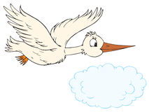 Cigogne blanche (clip-art de vecteur) Image stock
