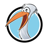 Cigogne de dessin animé Photos libres de droits