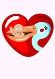 Cigogne de la livraison de bébé Images libres de droits