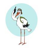 Cigogne pilote Photo libre de droits