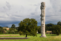Cigognier temple pillar Royalty Free Stock Images