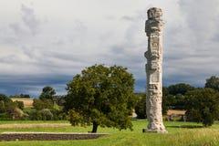 Cigognier temple pillar Royalty Free Stock Images