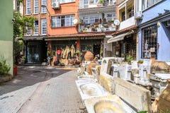 Cihangir district of Beyoglu, Istanbul. Istanbul, Turkey - May 13, 2017: Generic architecture in Cihangir, Beyoglu, Istanbul. Cihangir is a popular central stock photography
