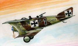 CII de WW1 LFG Roland illustration libre de droits