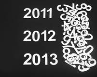 Cijfer 2013 met vrije ruimte voor uw tekst Stock Foto's