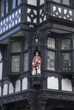 Cijfer aangaande Traditionele Voorgevel, Chester stock foto