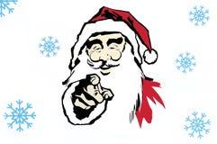 Cijfer de Kerstman. royalty-vrije illustratie