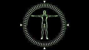 Cijfer die van de mens in het bewegen van wijzerplaatcirkel draaien vector illustratie