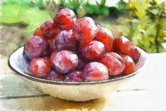 Cijfer natuurlijk heerlijk zoet fruit stock illustratie
