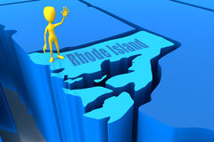 Cijfer van de de staats het gele stok van Rhode Island Stock Afbeelding