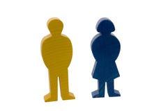 Cijfer van de mens en vrouw Stock Foto's