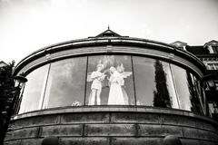 Cijfer van engel als symbool van liefde, vriendelijkheid, en het lijden stock fotografie