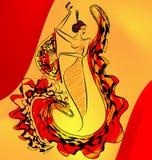 Cijfer van flamencodans Royalty-vrije Stock Afbeeldingen