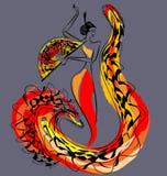 Cijfer van flamencodanser Stock Foto