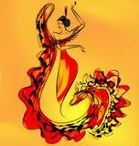 Cijfer van het meisje van de flamencodanser Royalty-vrije Stock Foto's