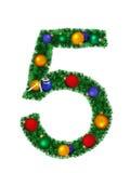 Cijfer van Kerstmisdecoratie - 5 vector illustratie