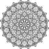 Cijfermandala voor het kleuren Stock Afbeelding
