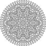 Cijfermandala voor het kleuren Royalty-vrije Stock Afbeelding