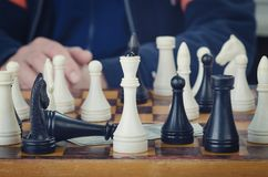 Cijfers aangaande een schaakbord royalty-vrije stock afbeeldingen