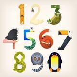 Cijfers als dieren gestalte dat worden gegeven dat royalty-vrije illustratie
