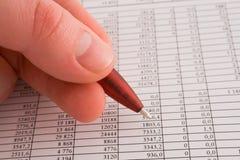 Cijfers en financiën Stock Afbeelding