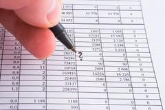 Cijfers en financiën stock foto's