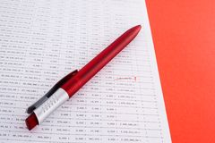 Cijfers en financiën stock foto