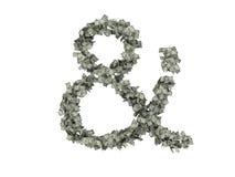 Cijfers en karakters van dollars Dollars Isoleer op witte achtergrond vector illustratie