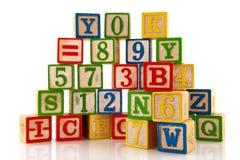 Cijfers en letters Stock Afbeeldingen